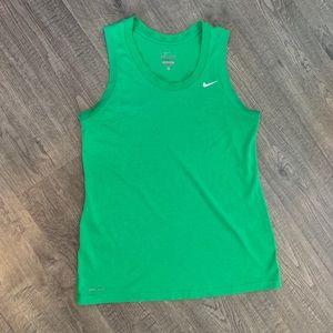 Nike Dri-Fit Green Workout Tank Size S.